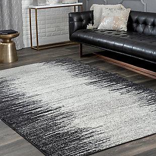 Nuloom Contemporary Lurline 8' x 10' Area Rug, Gray, rollover