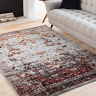 "Home Accents Serapi 7' 10"" x 10' 6"" Area Rug, Red, large"