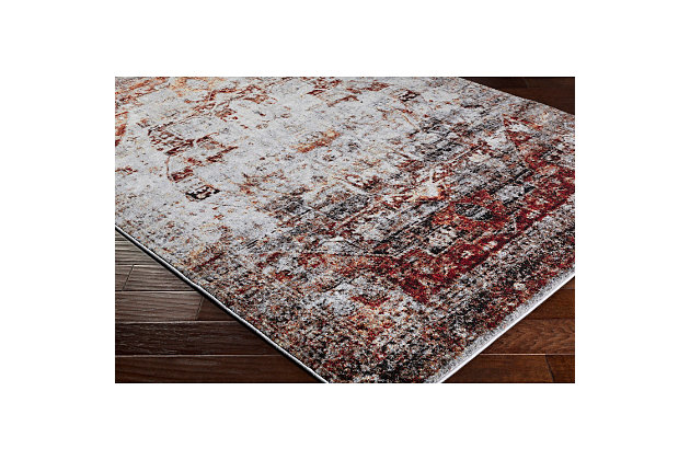 "Home Accents Serapi 6' 7"" x 9' 6"" Area Rug, Red, large"