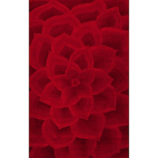 Nuloom Hand Tufted Gol 5' x 8' Area Rug, Red, large