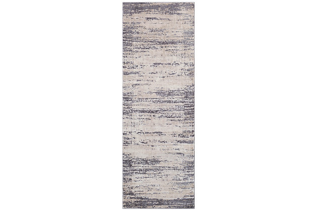 "Home Accents Tibetan 2' 7"" x 7' 6"" Runner, Gray, large"