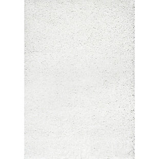 "Nuloom Marleen Plush Shag 5' 3"" x 7' 6"" Area Rug, White, large"