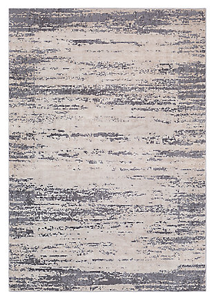 "Home Accents Tibetan 6' 7"" x 9' 6"" Area Rug, Gray, large"