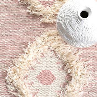 Nuloom Savannah Shaggy Moroccan Fringe 3' x 5' Area Rug, Pink, large