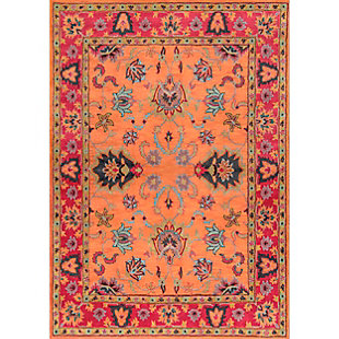 Nuloom Hand Tufted Montesque 6' Square Rug, Orange, large