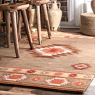 Nuloom Hand Tufted Shyla 5' x 8' Area Rug, Sage, rollover