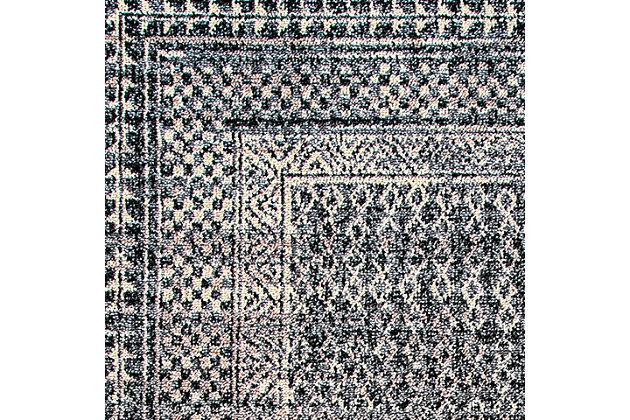 Nuloom Claudia Checkered Diamonds Tassel 5' x 8' Area Rug, Ivory Multi, large