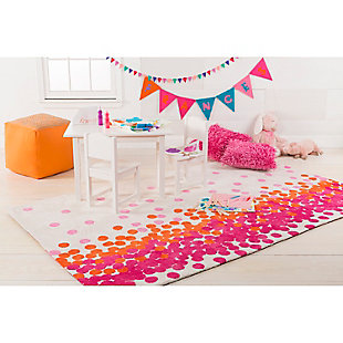 "Home Accents Abigail 3'3"" x 5'3"" Rug, Orange/Pink/White, large"