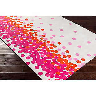 Home Accents Abigail 8' x 11' Rug, Orange/Pink/White, rollover