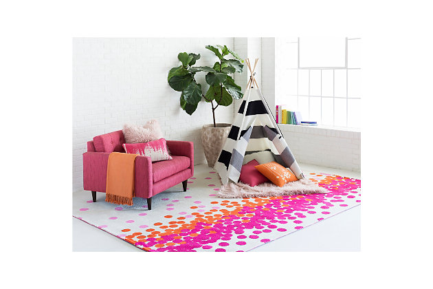 Home Accents Abigail 8' x 11' Rug, Orange/Pink/White, large