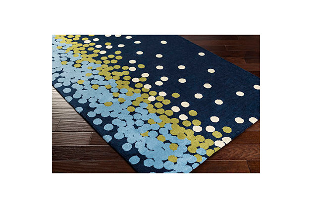 Home Accents Abigail 2' x 3' Rug, Blue/White/Green, large