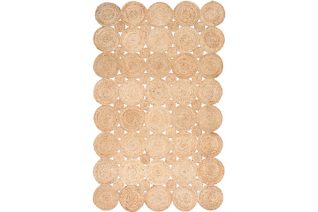Nuloom Hand Woven Drusilla 5' x 8' Area Rug, Natural, large
