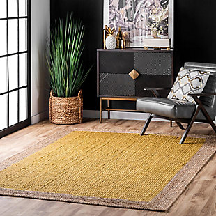 Nuloom Hand Woven Eleonora 5' x 8' Area Rug, Yellow, rollover