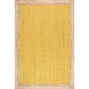 Nuloom Hand Woven Eleonora 5' x 8' Area Rug, Yellow, large