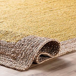 Nuloom Hand Woven Eleonora 5' x 8' Area Rug, Yellow, large