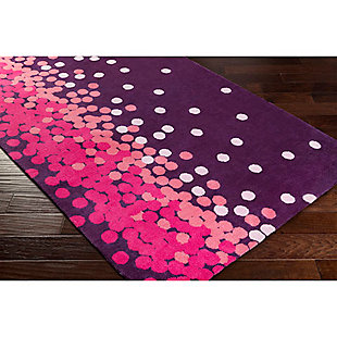 Home Accents Abigail 2' x 3' Rug, Purple/Pink, rollover
