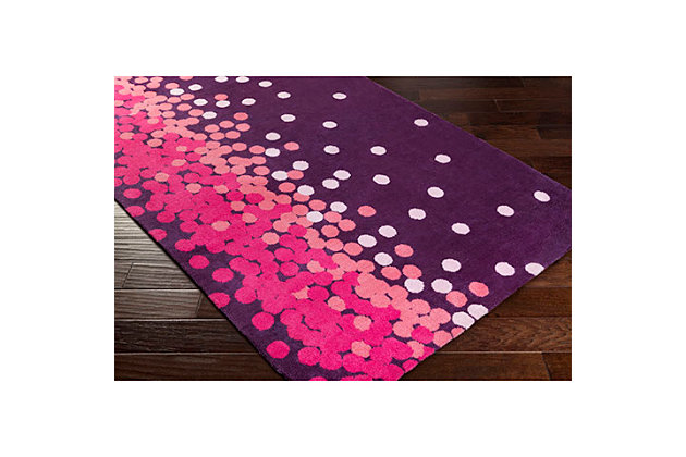"Home Accents Abigail 3'3"" x 5'3"" Rug, Purple/Pink, large"