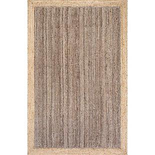 Nuloom Hand Woven Eleonora 5' x 8' Area Rug, Gray, large