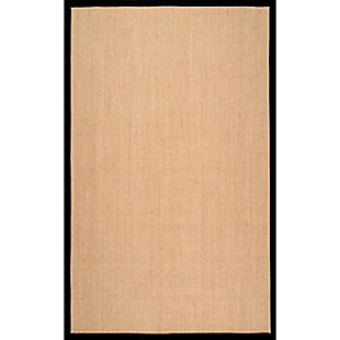 Nuloom Machine Woven Orsay Sisal 5' x 8' Area Rug, Black, large