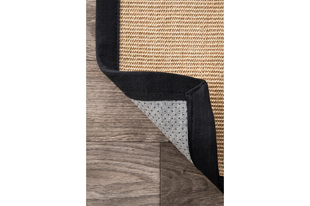 Nuloom Machine Woven Orsay Sisal 5' x 8' Area Rug, Black, large