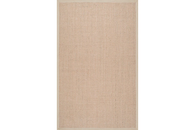 Nuloom Machine Woven Orsay Sisal 6' x 9' Area Rug, Beige, large