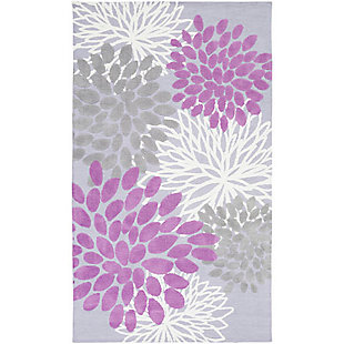 Home Accents Abigail 5' x 8' Rug, Purple, large