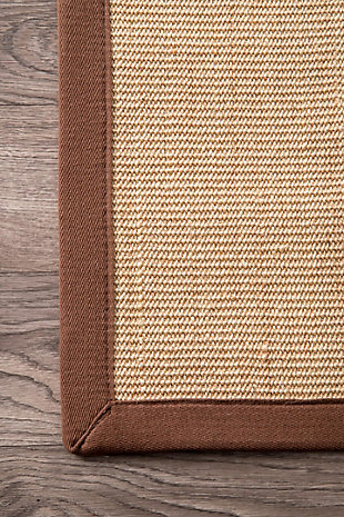 Nuloom Machine Woven Orsay Sisal 6' x 9' Area Rug, Brown, large