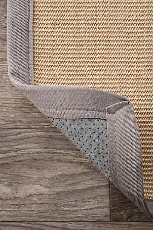 Nuloom Machine Woven Orsay Sisal 3' x 5' Area Rug, Light Gray, large