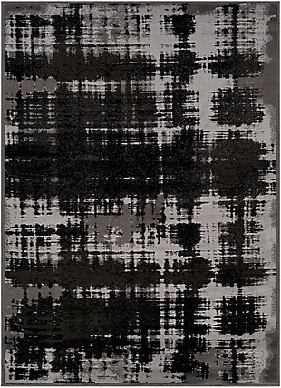 """Home Accent Stevens 5'3"""" x 7'3"""" Area Rug, Black/Gray, large"""
