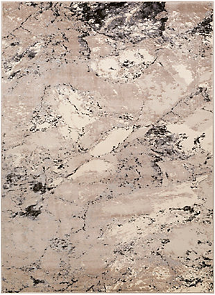 """Home Accent Draper 5'3"""" x 7'3"""" Area Rug, Brown/Beige, large"""