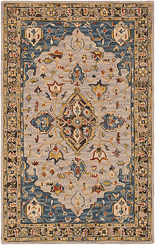 "Home Accent Gallagher 5' x 7'6"" Area Rug, Blue, large"