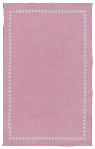 """Home Accents Abigail 3'3"""" x 5'3"""" Rug, Pink, large"""