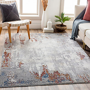 "Home Accent Atkins 5'3"" x 7'3"" Area Rug, Black/Gray, rollover"
