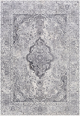 """Home Accent Marquez 5'3"""" x 7'3"""" Area Rug, Black/Gray, large"""