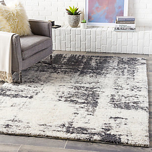 """Home Accent Tyler 5'3"""" x 7'3"""" Area Rug, Black/Gray, rollover"""
