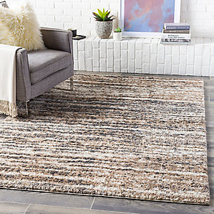 "Home Accent Hudson 5'3"" x 7'3"" Area Rug, Black/Gray, rollover"