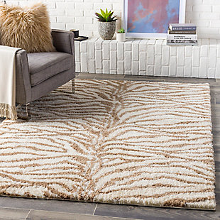 "Home Accent Rosa 5'3"" x 7'3"" Area Rug, Brown/Beige, rollover"