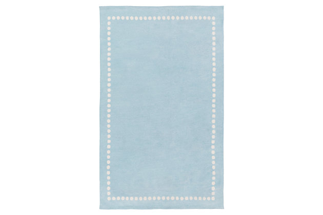 Home Accents Abigail 2' x 3' Rug, Blue, large