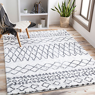 "Home Accent Conway 5'3"" x 7'3"" Area Rug, Black/Gray, rollover"
