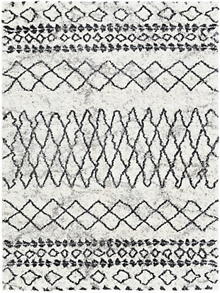 "Home Accent Conway 5'3"" x 7'3"" Area Rug, Black/Gray, large"
