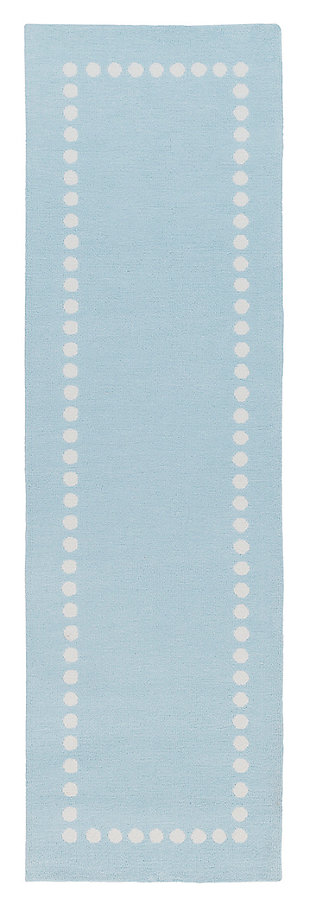 "Home Accents Abigail 2'6"" x 8' Rug, Blue, large"