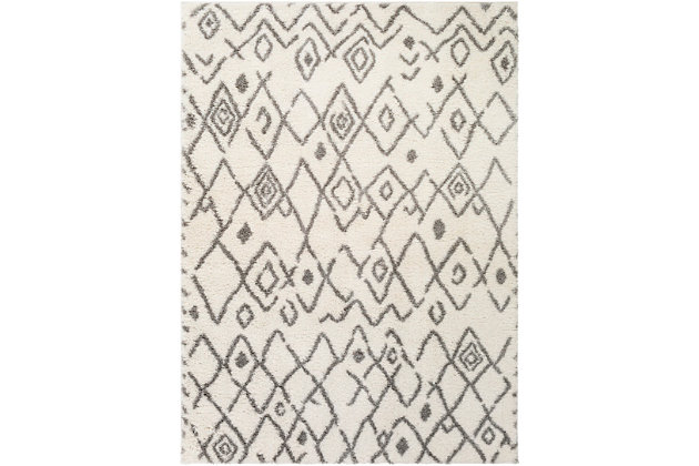 """Home Accent Stayer 5'3"""" x 7'3"""" Area Rug, Black/Gray, large"""