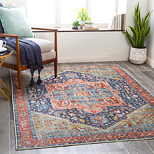 """Home Accent Franks 5'3"""" x 7'3"""" Area Rug, Blue, large"""