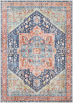 "Home Accent Franks 5'3"" x 7'3"" Area Rug, Blue, large"