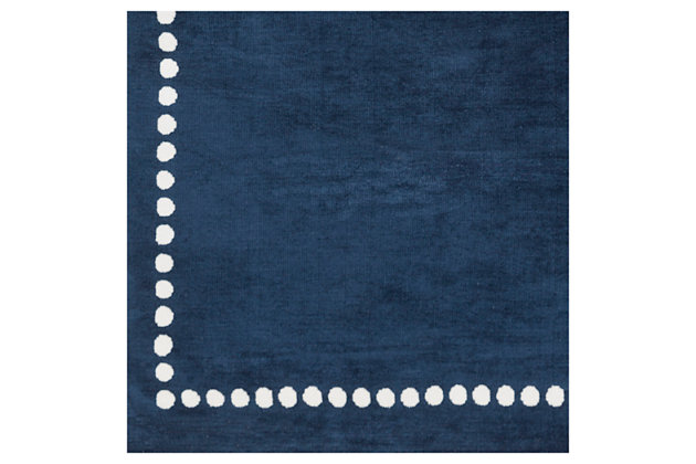 "Home Accents Abigail 2'6"" x 8' Rug, Navy, large"