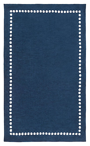 Home Accents Abigail 5' x 8' Rug, Navy, large