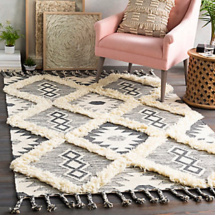 "Home Accent Bevington 5' x 7'6"" Area Rug, Black/Gray, rollover"