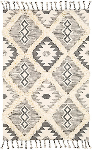 "Home Accent Bevington 5' x 7'6"" Area Rug, Black/Gray, large"