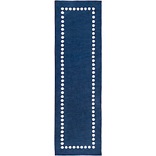 "Home Accents Abigail 2'6"" x 8' Rug, Navy, rollover"