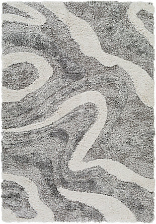 "Home Accent Bussard 5'3"" x 7' Area Rug, Black/Gray, large"